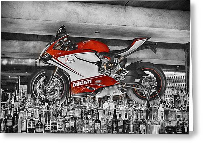 Superbikes Greeting Cards - Eden of the XY-Chromosome V4 Greeting Card by Douglas Barnard