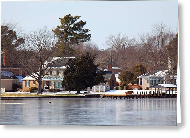 Edenton Waterfront Greeting Card by Carolyn Ricks