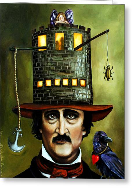 Gold Bug Greeting Cards - Edgar Allan Poe edit 2 Greeting Card by Leah Saulnier The Painting Maniac