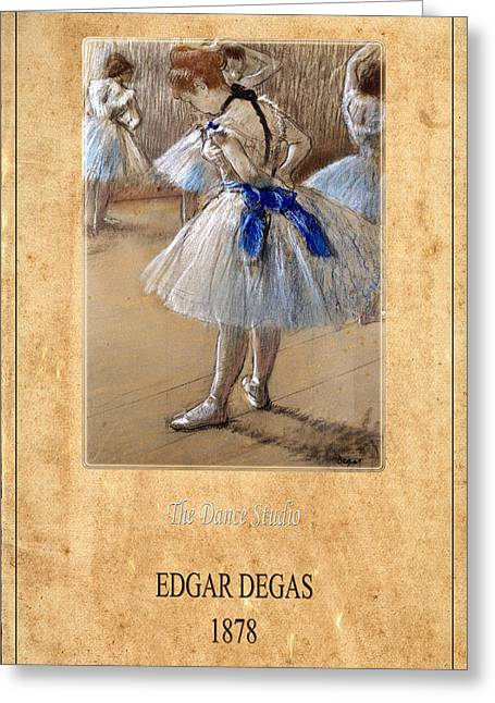 Dance Studio Greeting Cards - Edgar Degas 1 Greeting Card by Andrew Fare