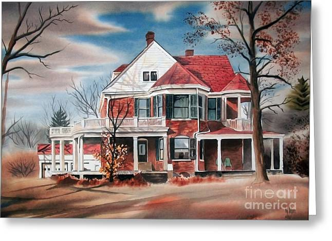 Edgar Home Greeting Card by Kip DeVore