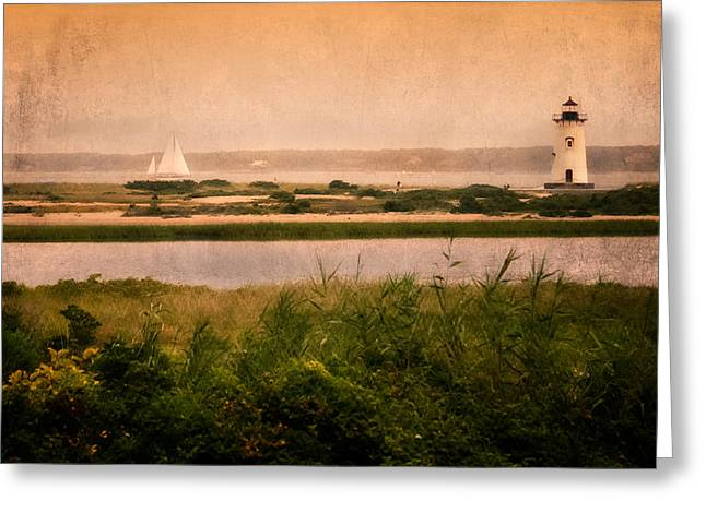 Cape Cod Landscapes Greeting Cards - Edgartown Lighthouse Greeting Card by Bill  Wakeley
