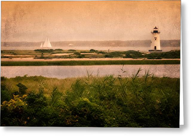 Edgartown Lighthouse Greeting Card by Bill Wakeley