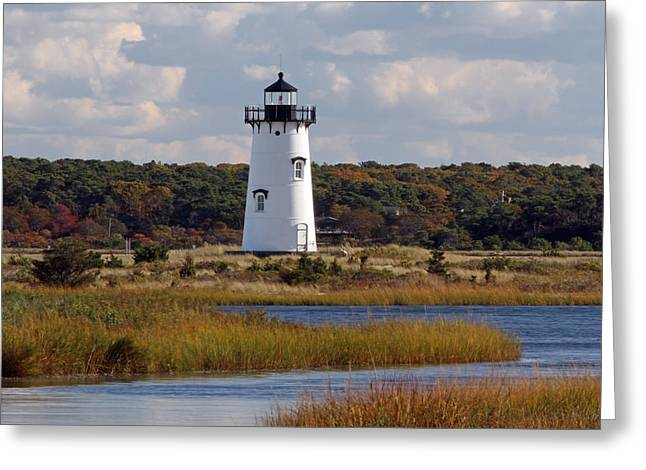 Edgartown Lighthouse Greeting Card by Juergen Roth