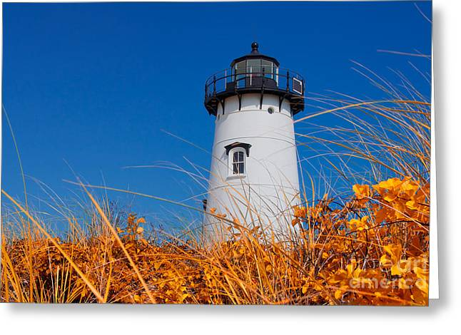 Vineyard Haven Greeting Cards - Edgartown Lighthouse Greeting Card by Mark Miller