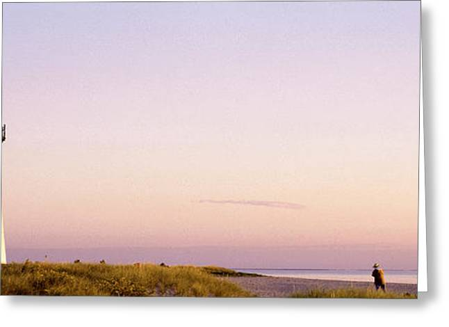 New England Ocean Greeting Cards - Edgartown Lighthouse, Marthas Vineyard Greeting Card by Panoramic Images