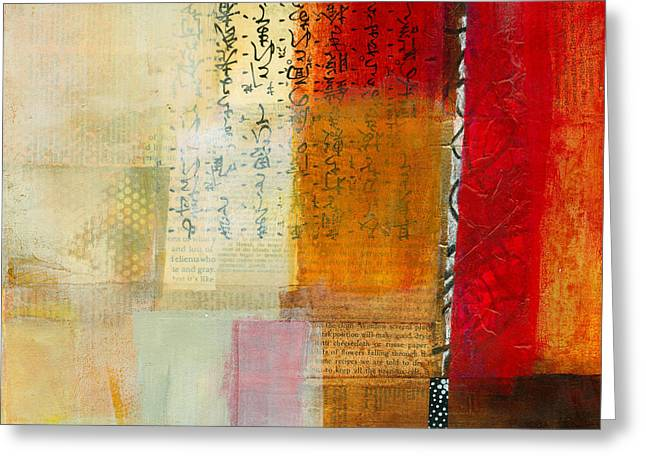 Abstract Collage Greeting Cards - Edge Location 8 Greeting Card by Jane Davies