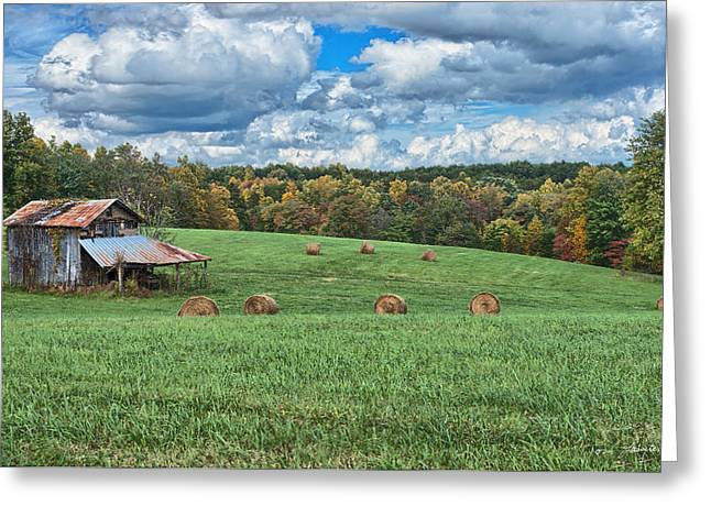 Recently Sold -  - Old Barns Greeting Cards - Edge of Autumn Greeting Card by Tom Lassiter