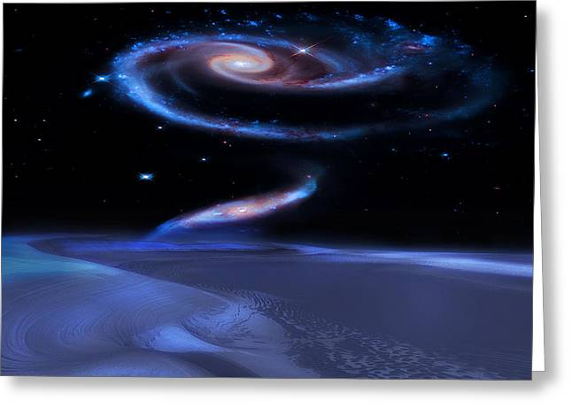 Alien Worlds Greeting Cards - Edge of Forever Greeting Card by Bill  Wakeley