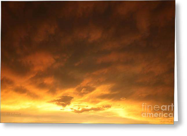 Amazing Sunset Greeting Cards - Edge of the Eye 02 Greeting Card by E B Schmidt