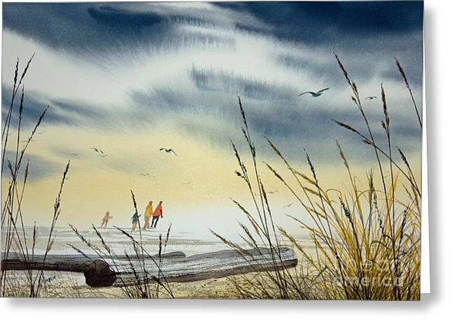 Landscape Framed Prints Greeting Cards - Edge of the Sea Greeting Card by James Williamson