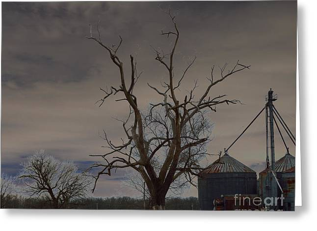Rural Indiana Greeting Cards - Edge of the Storm Greeting Card by Alys Caviness-Gober