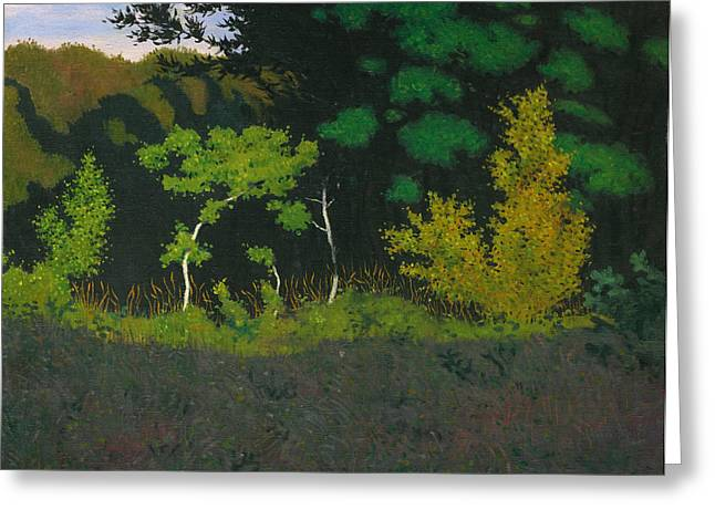 Vallotton Greeting Cards - Edge of the Wood Greeting Card by Felix Vallotton