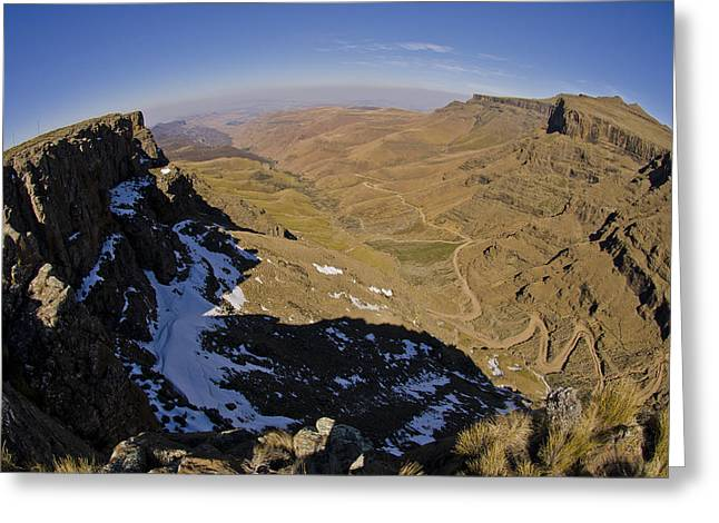 Desert View Greeting Cards - Edge of the World Greeting Card by Aaron S Bedell
