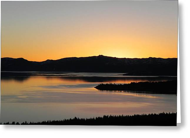Winter Solstice Framed Prints Greeting Cards - Edge of the World Greeting Card by Leah Moore