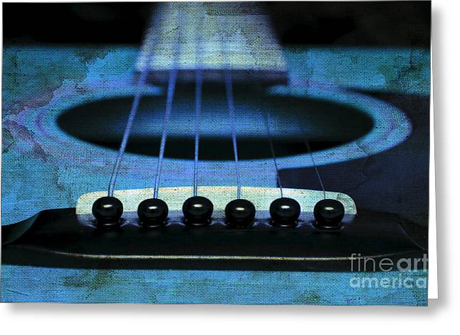 Edgy Abstract Eclectic Guitar 17 Greeting Card by Andee Design