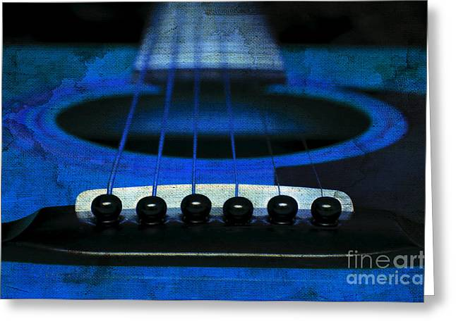 Edgy Abstract Eclectic Guitar 18 Greeting Card by Andee Design