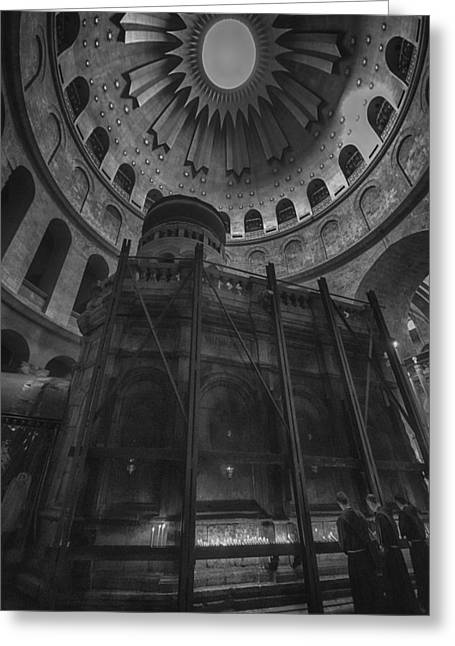 Sepulcher Greeting Cards - Edicule - Church of the Holy Sepulchre Greeting Card by Stephen Stookey