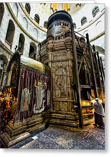 Edicule Of The Tomb Greeting Card by Stephen Stookey