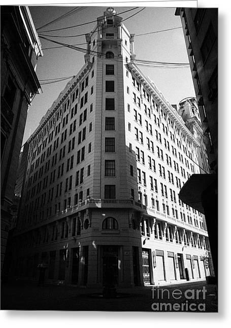 Edificios Greeting Cards - edificio ariztia in the financial district of Santiago Chile Greeting Card by Joe Fox