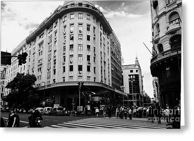 Edificios Greeting Cards - Edificio Bencich and south end of florida street downtown Buenos Aires Argentina Greeting Card by Joe Fox
