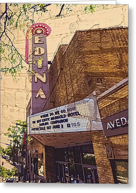Recently Sold -  - Enhanced Greeting Cards - Edina Minnesota Sign Greeting Card by Susan Stone