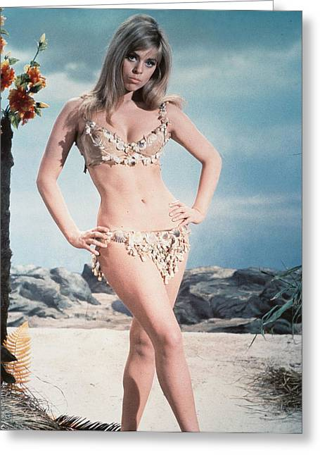 Prehistoric Greeting Cards - Edina Ronay in Prehistoric Women  Greeting Card by Silver Screen