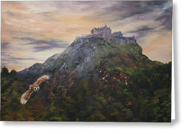 Jean Walker Greeting Cards - Edinburgh Castle Scotland Greeting Card by Jean Walker
