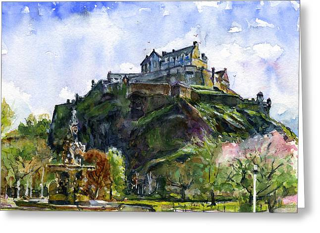 Edinburgh Castle Scotland Greeting Card by John D Benson