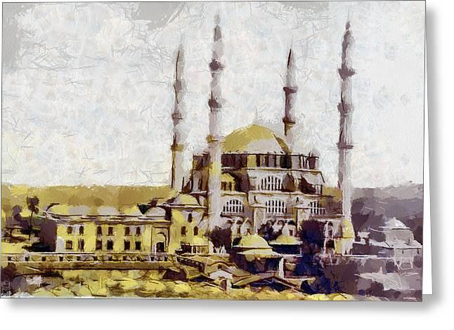 Edirne Turkey Old Town Greeting Card by Georgi Dimitrov