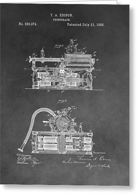 Edison Phonograph Patent Greeting Card by Dan Sproul