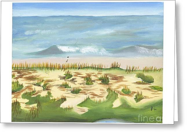 Blue Green Wave Greeting Cards - Edisto Greeting Card by Cai Pope
