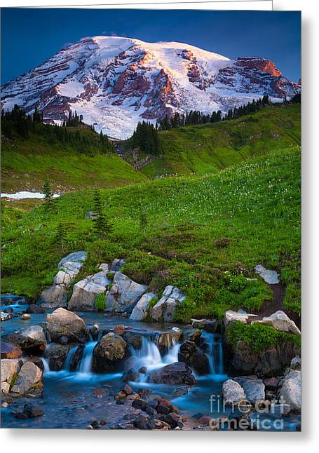 Harmonious Photographs Greeting Cards - Edith Creek Greeting Card by Inge Johnsson