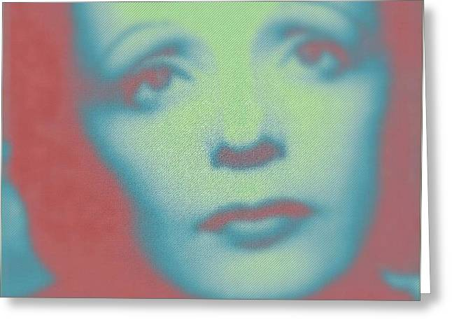Edith Piaf Greeting Cards - Edith in Mist Greeting Card by John Madison