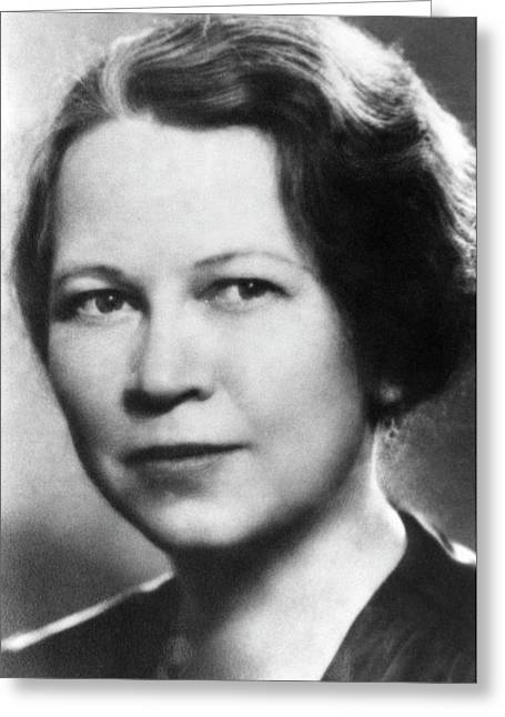 Edith Quimby Greeting Card by Emilio Segre Visual Archives/american Institute Of Physics