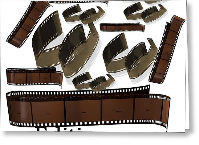 Movie Art Greeting Cards - Editing The Old Fashion Way Greeting Card by Tina M Wenger