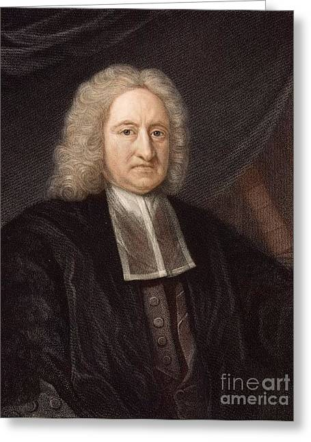 Diving Bell Greeting Cards - Edmond Halley, Astronomer, 1736 Greeting Card by Paul D. Stewart