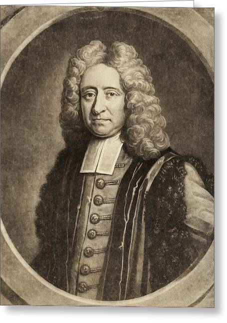 Edmond Halley Greeting Card by Gregory Tobias/chemical Heritage Foundation