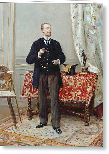 Full-length Portrait Greeting Cards - Edmond Taigny Greeting Card by Jean Beraud