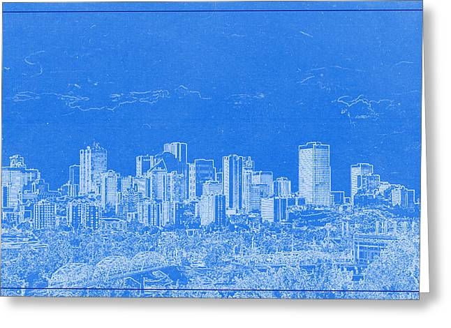 Lincoln Park Lagoon Greeting Cards - Edmonton Canada BluePrint Greeting Card by Celestial Images