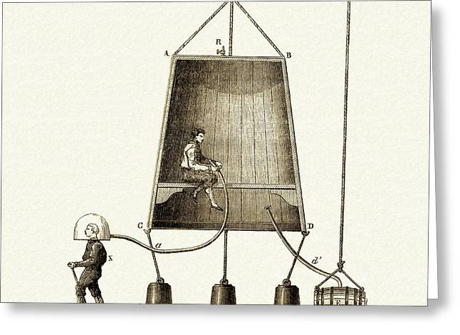 Edmund Halley's Diving Bell Greeting Card by Sheila Terry