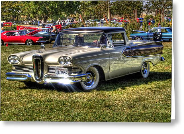 Bill Gallagher Photography Greeting Cards - Edsel Ranchero Greeting Card by Bill Gallagher