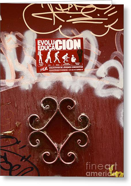 Protest Greeting Cards - Education and Evolution Greeting Card by James Brunker