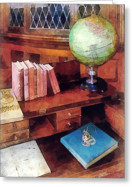 Desks Greeting Cards - Education - Professors Office Greeting Card by Susan Savad