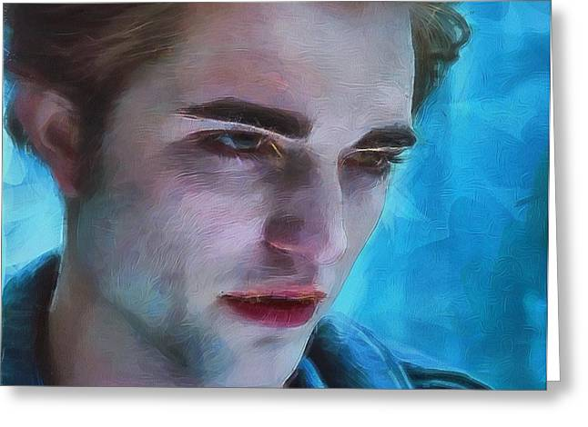 Edward Cullen Twilight Series Greeting Card by Dan Sproul
