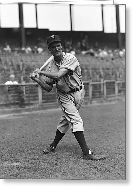 Brooklyn Dodgers Greeting Cards - Edward F. Eddie Wilson Greeting Card by Retro Images Archive
