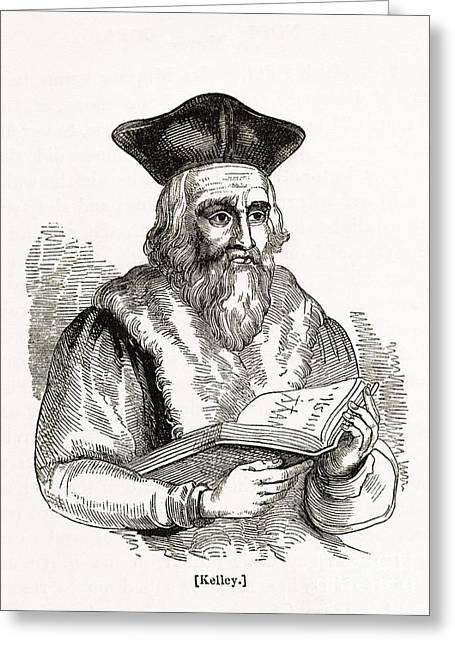 Human Spirit Greeting Cards - Edward Kelley, English Astrologer Greeting Card by Middle Temple Library