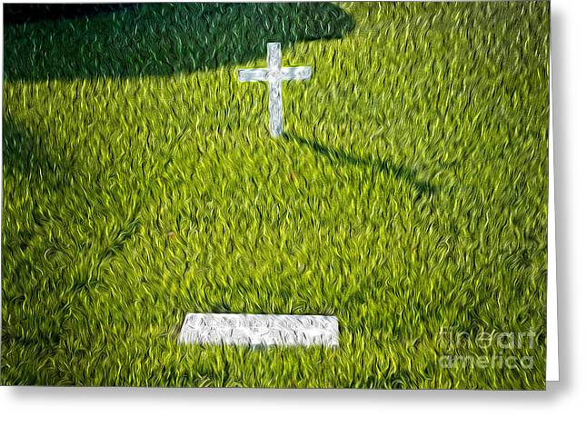 Arlington Greeting Cards - Edward Kennedy Grave Greeting Card by Paul W Faust -  Impressions of Light
