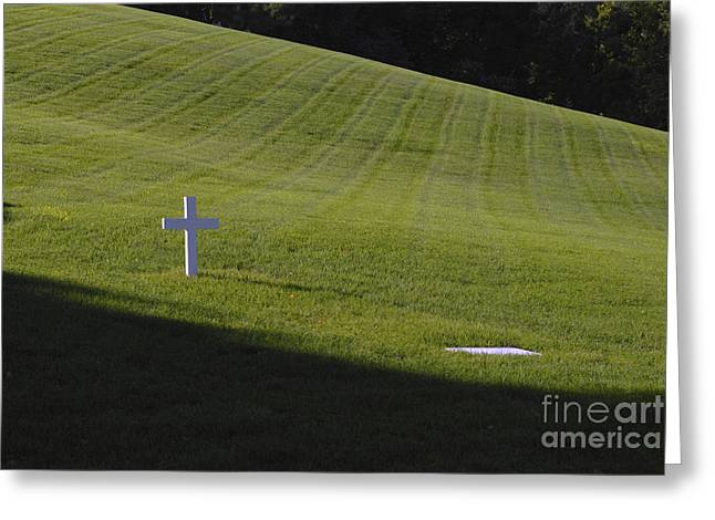 Senator Kennedy Greeting Cards - Edward Kennedy Grave Site Greeting Card by Paul W Faust -  Impressions of Light