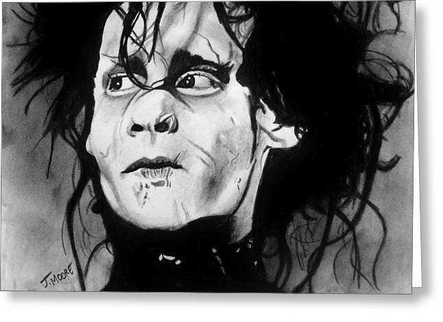 Gothic Pastels Greeting Cards - Edward Scissorhands Greeting Card by Jeremy Moore